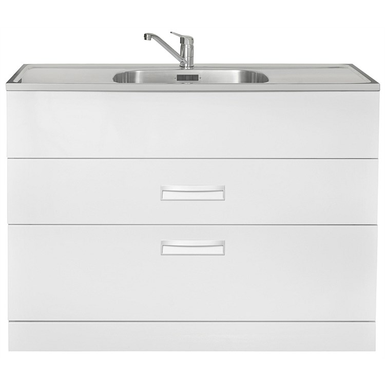 LeVivi Hub Tub 1200mm Double Drawer Laundry Tub