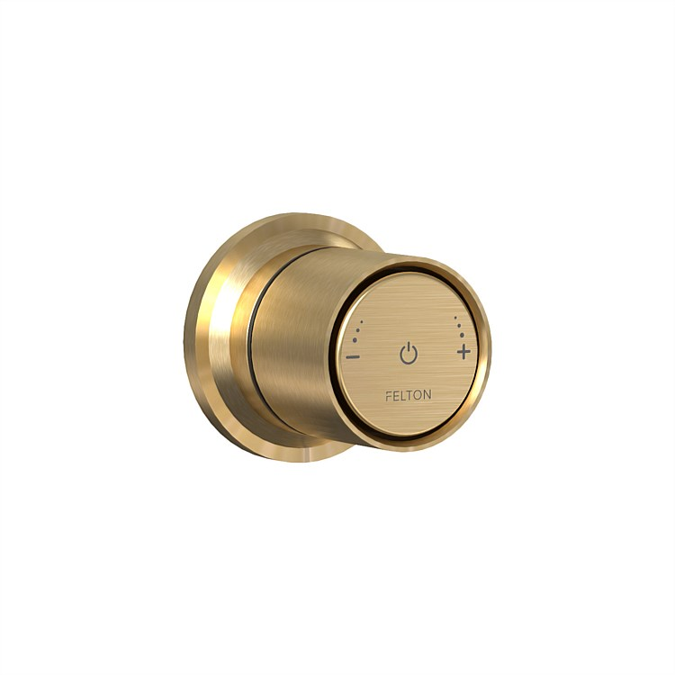 Tate Smartflow Digital Shower Mixer Brushed Gold
