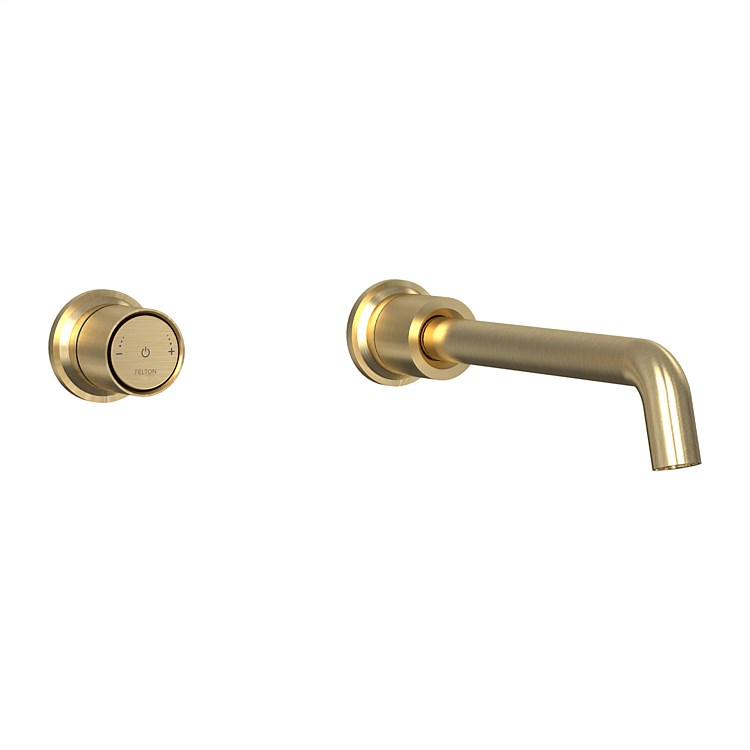 Tate Digital Wall Mounted Mixer Brushed Gold