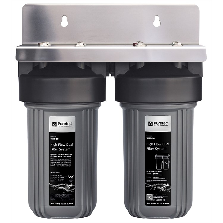 Puretec WH2 Series Whole House Dual Water Filter System