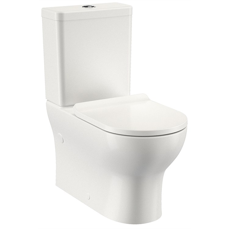 Clark Round Alto II Back to Wall Slim Toilet Suite