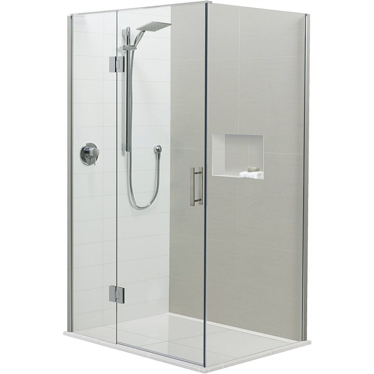 Brenner 1200mm 2 Wall LH Prefinished Base Shower Package