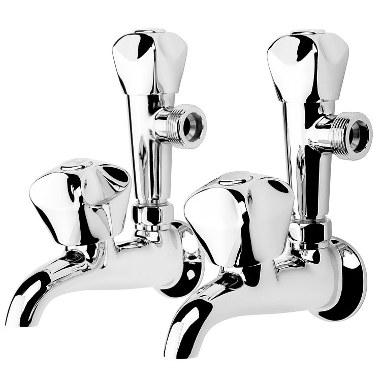 Voda Proline Laundry Taps Combo (Pair) Chrome