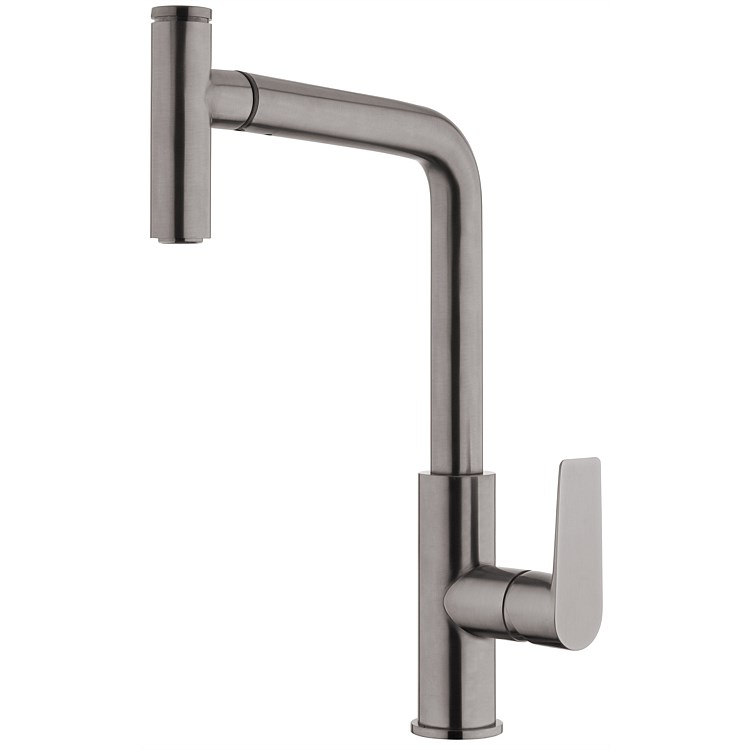 Voda Olympia High Rise Pullout Sink Mixer Brushed Gunmetal