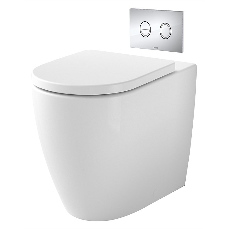 Caroma Invisi II Urbane II Cleanflush® Wall-Faced Toilet Suite with Soft Close Seat