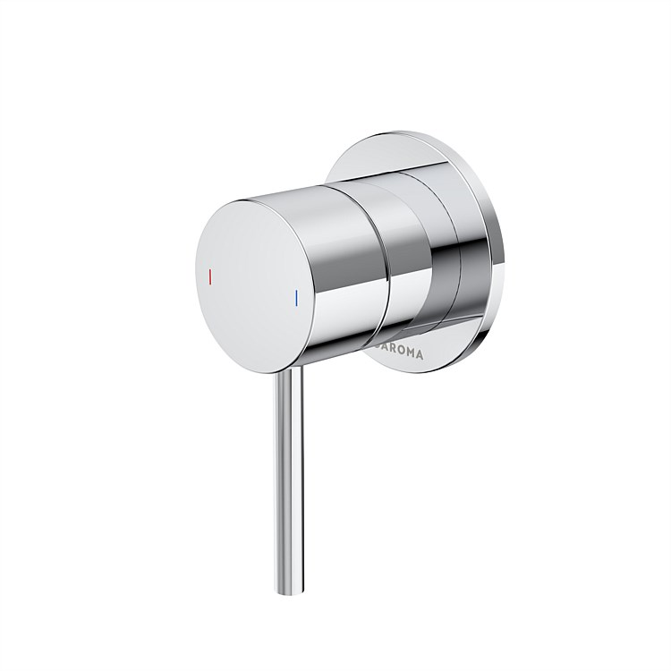 Caroma Liano II Bath Shower Mixer Chrome with Round Cover Plate