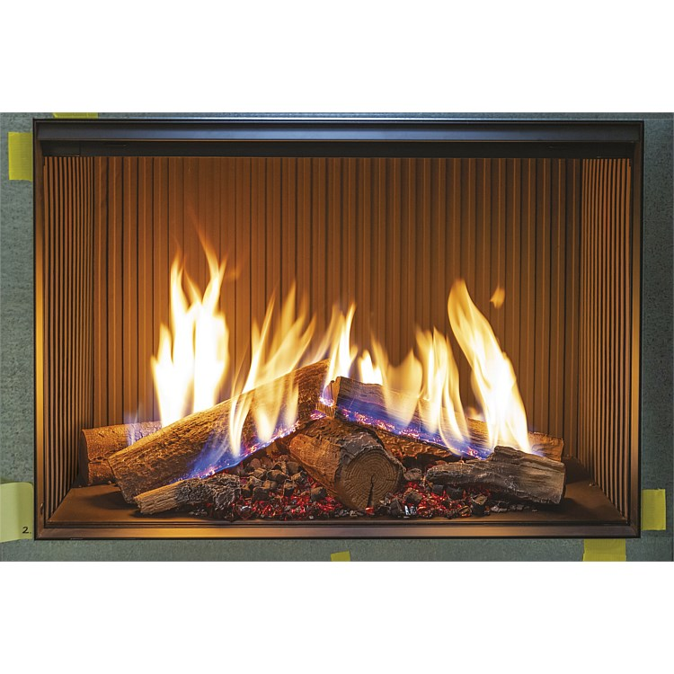 Linear 800 FlameTech Single Sided Log Effect Gas Fire LPG