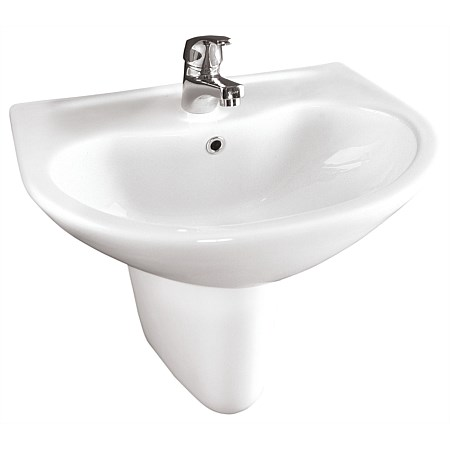 Toto Sintra 500mm Wall Basin and Semi-Pedestal
