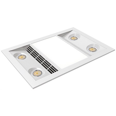 Manrose Designer Bathroom Heating Fan and LED Light