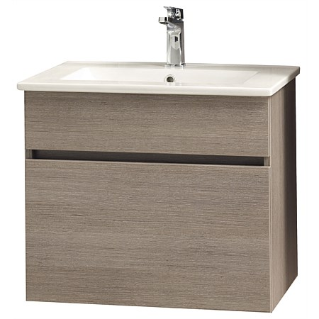 Clearlite Pinnacle Slim Single Drawer 600mm Wall-Hung Vanity