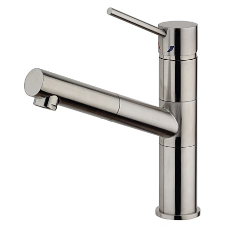 Paini Inox Sink Mixer with Pull-Out Spout