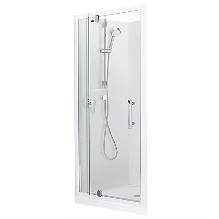 Englefield Azure 900mm Alcove Square Shower Enclosure
