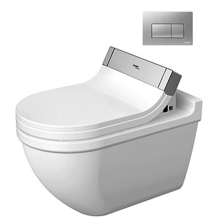 Duravit Starck 3 Wall-Hung Toilet Suite with Sensowash Seat