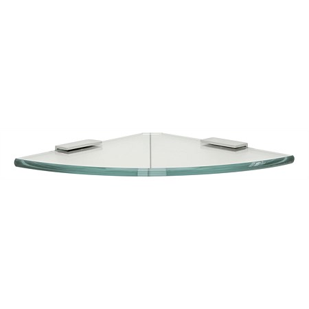 Tranquillity Toughened 200mm Glass Corner Shelf