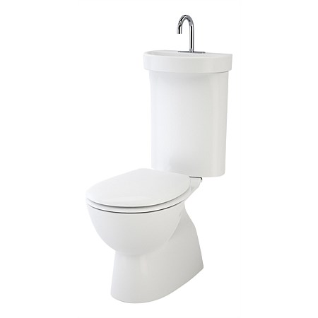 Caroma Profile 5 Integrated Hand Basin Toilet Suite