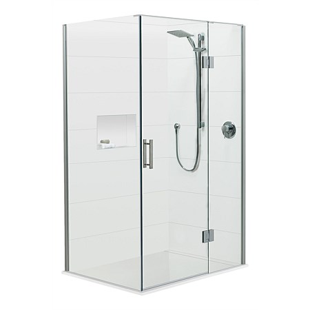 Brenner 1400mm 2 Wall Prefinished Base Shower Package
