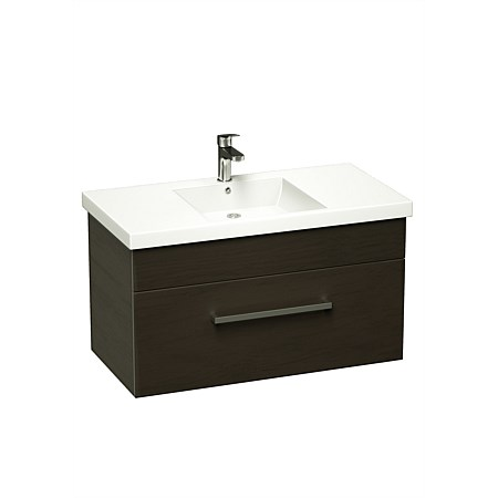 LeVivi York Neo 750mm Wall-Hung Vanity Charred Oak