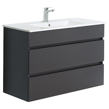 Clearlite Pinnacle Double Drawer 900mm Wall-Hung Vanity