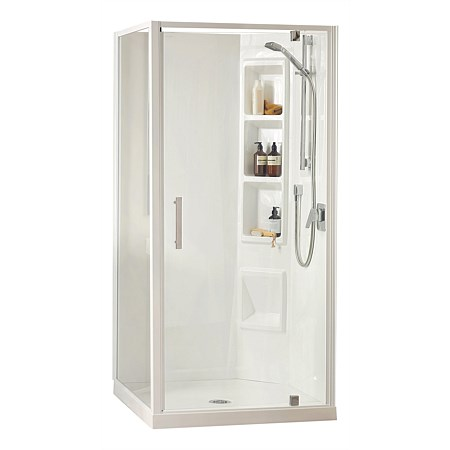 Clearlite Millennium 1000mm 2 Sided Square Shower Enclosure