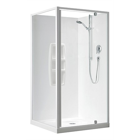 Clearlite Sierra 900mm 2 Sided Square Shower Enclosure