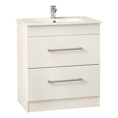 Clearlite Cashmere 750mm 2 Draw Vanity