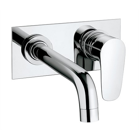 Paini Parallel Wall Mounted Basin Mixer with backing plate
