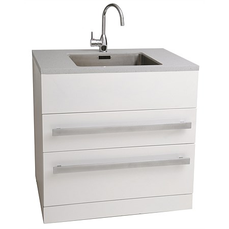 Aquatica LaundraMax Tub and Cabinet with Composite Top