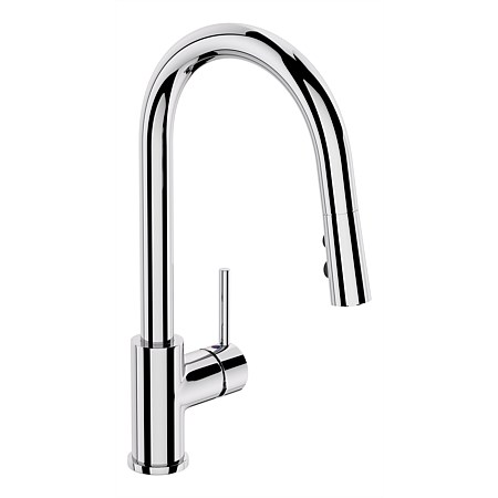 Elementi Uno Goose Neck Sink Mixer with Pull Out Spout