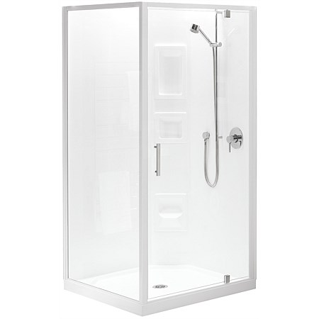 Clearlite Induro Tall 900mm 2 Sided Shower Enclosure