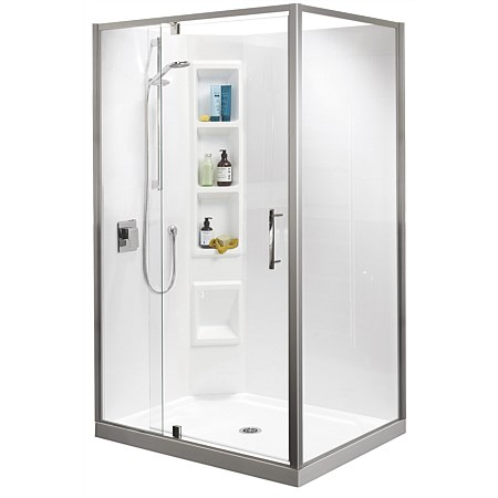 Clearlite Millennium 900mm 2 Sided Shower Enclosure
