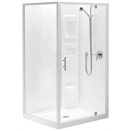 Clearlite Induro 900mm 2 Sided Square Shower Enclosure