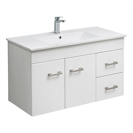 Clearlite Cashmere 900mm Slim Wall-Hung Vanity