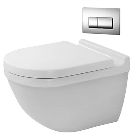 Duravit Starck 3 Rimless Wall-Hung Toilet Suite