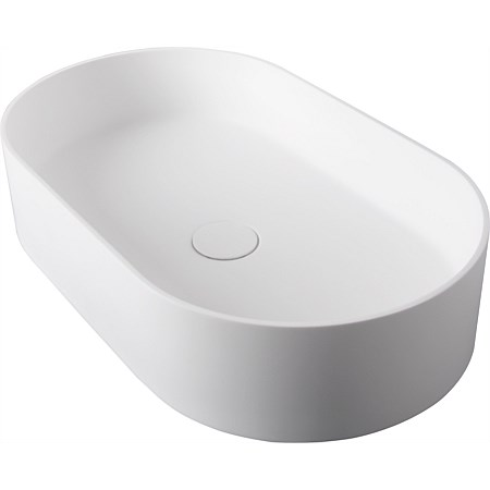 LeVivi Capri Ellipse Solid Surface Basin White