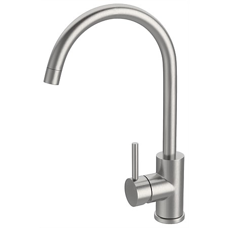 LeVivi Aspen Gooseneck Sink Mixer with Swivel Spout Stainless Steel