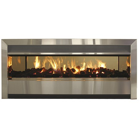 Real Fires 1200TW Minimal Through Wall Inbuilt Gas Fire