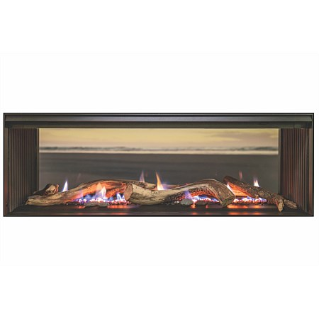 Linear 1500 Double Sided Gas Fire LPG