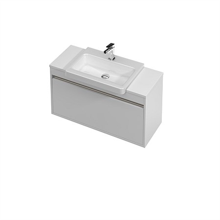 St Michel City Semi-Recessed 900mm Wall-Hung Vanity