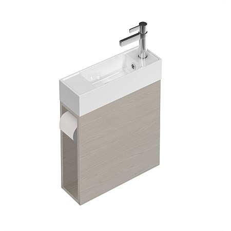 St Michel Spin Wall-Hung Vanity 450mm with Toilet Roll and Towel Hook