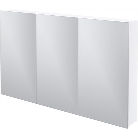 LeVivi Capri 1200mm Mirror Cabinet White