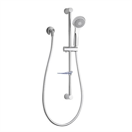 Designer Single Spray Slide Shower Chrome