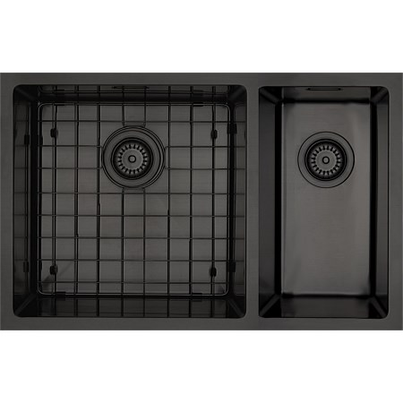 Mercer Aurora Bowl & 1/4 RH Sink Insert Black