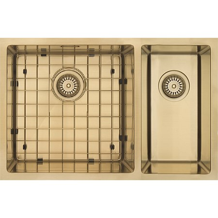 Mercer Aurora Bowl & 1/4 RH Sink Insert Brass