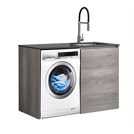 LeVivi Laundry Station 1300mm RH Door Charcoal Top Elm Cabinet