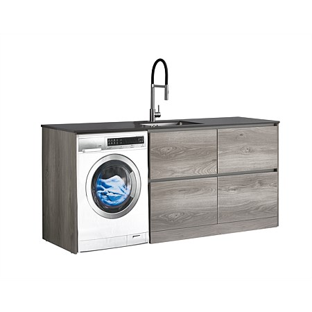 LeVivi Laundry Station 1930mm RH 4 Drawers Charcoal Top Elm Cabinet