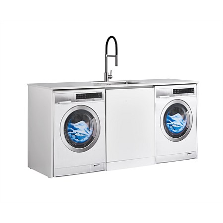 LeVivi Laundry Station 1930mm Centre Door Only White Top White Cabinet