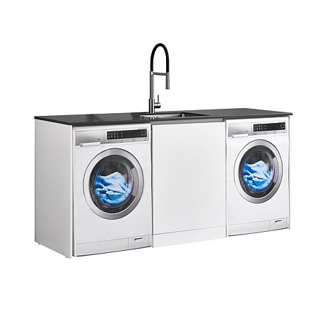 LeVivi Laundry Station 1930mm Centre Door Only Charcoal Top White Cabinet