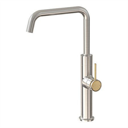Tate Sink Mixer Brushed Nickel/Brushed Gold