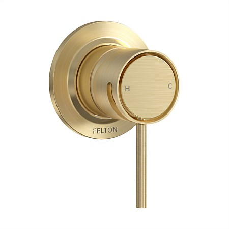 Tate Shower Mixer Brushed Gold