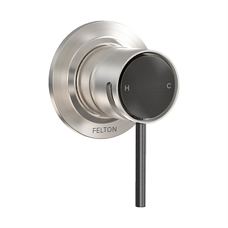 Tate Shower Mixer Brushed Nickel/Brushed Gunmetal